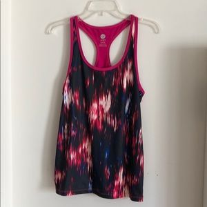 Roxy Fitness Pink and Black Pattern Tank